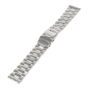 22mm Stainless Steel Watch Band with Spring Bars for Moto 360 2nd 46mm/Samsung R380/Pebble Tim etc - Silver Color