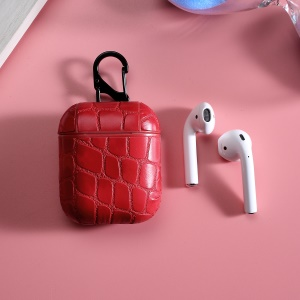 Pretty Net Surface Vintage Bluetooth Earphone Bag Protective Cover for Apple AirPods Charging Case - Red