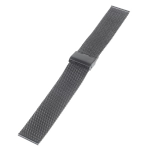Universal Stainless Steel Mesh Watch Band Strap for Motorola Moto 360 46mm (2nd gen) - Black