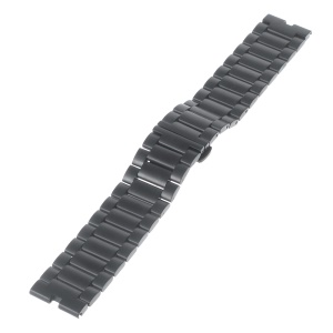 23mm Stainless Steel Watchband for Motorola Moto 360 Smart Watch - Black