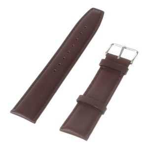 22mm Genuine Leather Watchband for Huawei Watch 2 Classic Edition / Samsung Gear S3 Classic / Moto 360 46mm 2nd Gen/LG G Watch Etc - Coffee
