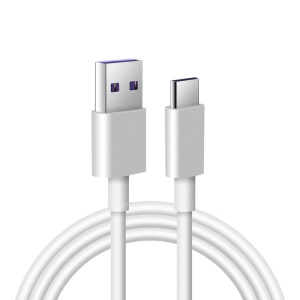 5A 1m Type-C Fast Charging Data Cable for Huawei Samsung etc. - White