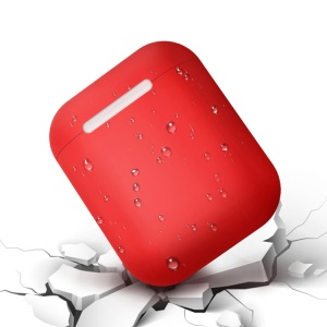 LEEU DESIGN Silicone Case for Apple AirPods with Wireless Charging Case (2019) - Red