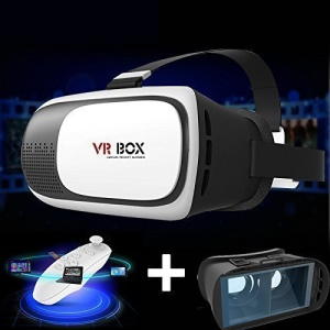 Enhanced Version Virtual Reality Video 3D Glasses + Bluetooth Controller + Screen Protector