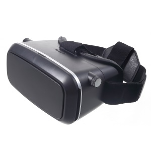 VR SHINECON virtual reality 3D Headset Video Game óculos com Bluetooth obturador remoto-preto