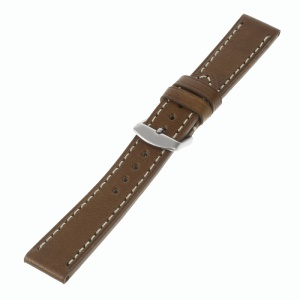 Genuine Leather Watchband for Samsung Gear S2 Classic SM-7320 / Motorola Moto 360 42mm (2nd gen) - Brown