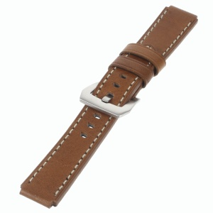 Genuine Leather Wristband Watchband for Huawei Watch - Brown