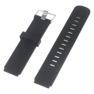 Silicone Watch Band Strap with Steel Buckle for Huawei Watch - Black