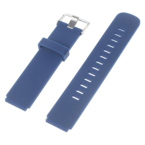 Silicone Watch Band Strap with Steel Buckle for Huawei Watch - Blue
