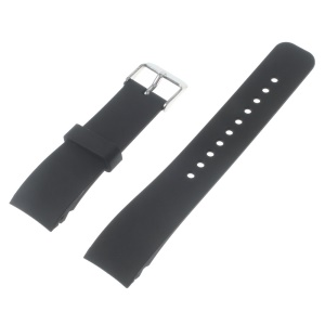 Silicone Watch Strap Steel Buckle for Samsung Galaxy Gear S2 Classic SM-732 - Black