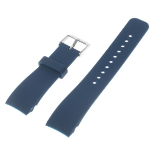 Silicone Watch Wrist Strap Steel Buckle for Samsung Galaxy Gear S2 Classic - Blue