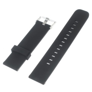 Silicone Watch Strap for Huawei Watch 2 Pro / Samsung Galaxy Gear S2 Classic / Moto 360 2 42mm, Width: 20mm - Black