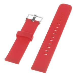 Silicone Watch Band for Huawei Watch 2 Pro / Samsung Galaxy Gear S2 Classic / Moto 360 2 42mm, Width: 20mm - Red