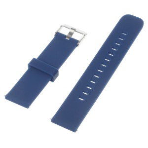 Silicone Watch Strap for Huawei Watch 2 Pro / Samsung Galaxy Gear S2 Classic / Moto 360 2 42mm, Width: 20mm - Blue