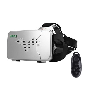 RITECH Riem III Virtual Reality 3D Glasses for Smartphone - Silver / Black Remote Controller