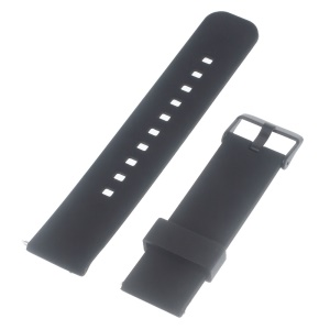 Silicone Watchband with Metal Clasp for Samsung Gear 2 R380 / Pebble Time / LG G Watch W100 W110 / Asus Zenwatch - Black