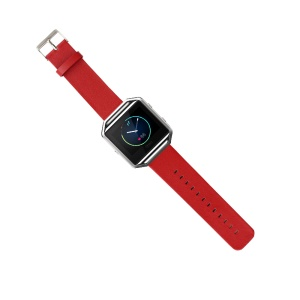 Genuine Leather Wristband for Fitbit Blaze Smart Fitness Watch - Red