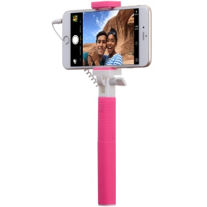 MOMAX Selfie Mini Mini 3.5mm Audio Cable Extendable Handheld Monopod - Rose