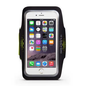LENTION Sweatproof Sport Armband with Card Slot and Earphone Cutout for iPhone 6s 6 - Black