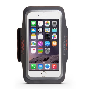 LENTION Sweatproof  Sport Armband with Card Slot and Earphone Cutout for iPhone 6s 6 - Grey