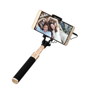 HUAWEI AF11 3.5mm Wired Cable Control Extendable Selfie Stick for Huawei P9/iPhone 6s Etc - Black