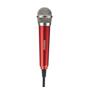 REMAX RMK-K01 Handheld Karaoke Microphone for Song-singing APPs - Red