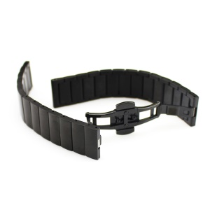 Bamboo-like Stainless Steel Strap for Huawei Talkband B3 with Folding Clasp - Black