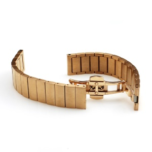 Bamboo-like Stainless Steel Strap for Huawei Talkband B3 with Folding Clasp - Rose Gold