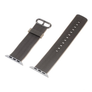 Nylon Watchband Wristband for Apple Watch Series 3 Series 2 Series 1 42mm - Grey