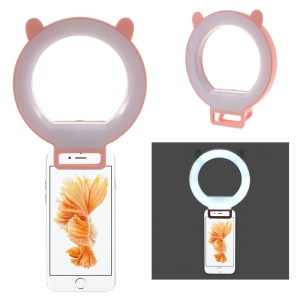 Clip-on Dimmable LED Selfie Ring Fill Light for iPhone Samsung