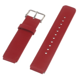 Genuine Leather Watchband Wristband for Huawei Talk Band B3 - Red