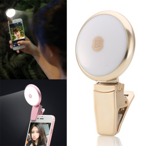 REMAX High-end Selfie Light Compensation LED for iPhone Samsung etc Smartphones - Gold