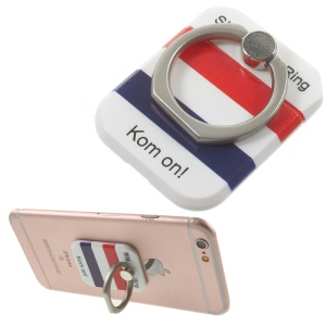 PICKOGEN Drop-resisting Ring Stand Holder Finger Grip for iPhone 6s Plus/Samsung Galaxy S7 edge - French Flag