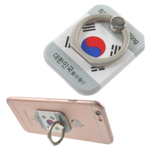 PICKOGEN Drop-resisting Ring Stand Holder Finger Grip for iPhone 6s Plus/Samsung Galaxy S7 edge - South Korea National Flag