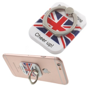 PICKOGEN Drop-resisting Ring Stand Holder Finger Grip for iPhone 6s Plus/Samsung Galaxy S7 edge - UK Flag