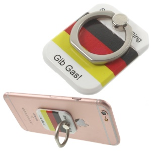 PICKOGEN Drop-resisting Ring Stand Holder Finger Grip for iPhone 6s Plus/Samsung Galaxy S7 edge - German Flag