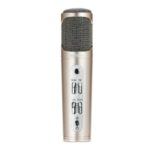 REMAX K02 Smart DC 5V Antibruit Mini Microphone Pour Ios Android PC - Couleur Or