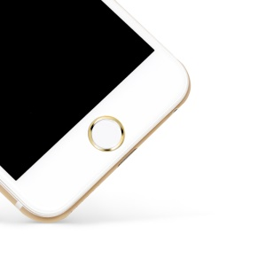 LENUO EL-69 Touch ID Home Button Sticker Fingerprint Identification for iPhone 6s Plus/6s/5s - White / Gold