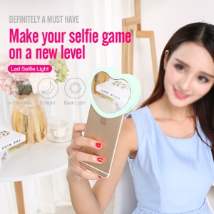 SMART TIGER Fill-in Light Selfie Light Universal Clip-on Mobile Phone Makeup Dimmable Light - Blue