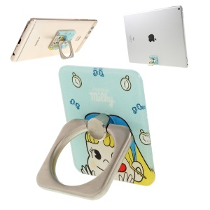 Pokemon Go Cartoon Pattern Finger Ring Kickstand for iPhone iPad etc - Milky Princess with Barrette
