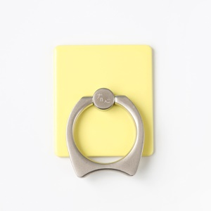 MAOXIN Cat Ear Finger Grip Metal Ring Stand for Smartphone Tablets - Yellow