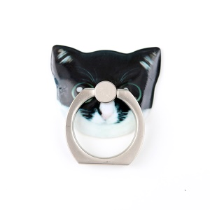 MAOXIN Cute Cat Head Finger Grip Metal Ring Holder for Smartphones - Eileen