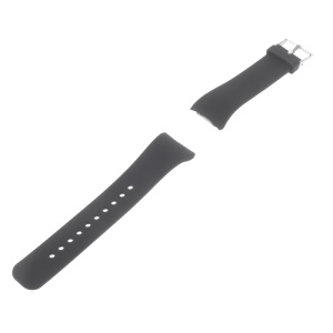Silicone Watch Strap for Samsung Gear Fit 2 SM-R360 - Black