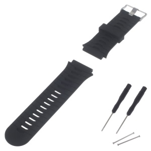 For Garmin Forerunner 920XT Soft Silicone Watch Band + Lugs Adapters + Tools - Black