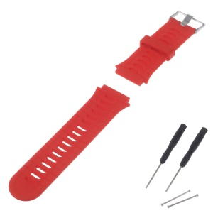 Soft Silicone Watchband for Garmin Forerunner 920XT + Lugs Adapters + Tools - Red