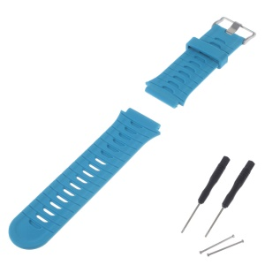 Soft Silicone Watch Band + Lugs Adapters + Tools for Garmin Forerunner 920XT - Blue
