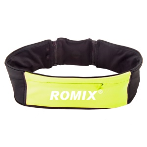 ROMIX RH26 Waist Bag Pouch with 1 Main Compartment (20.5 x 8cm)+ 2 Sides Pockets (17 x 7.5cm) - Yellow / S&M