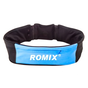 ROMIX RH26 Waist Bag Pouch with 1 Main Compartment (20.5 x 8cm) + 2 Sides Pockets (17 x 7.5cm) - Blue / S&M
