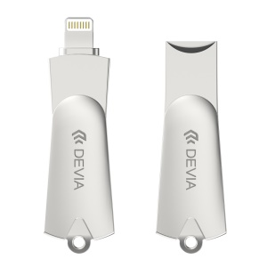 DEVIA I Storage MFI Certified USB Flash Drive Extend Mobile Storage for iOS 7 & 8 & 9 - Silver