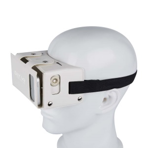 """DIY PU Leather 3D VR Virtual Reality Glasses Box for iPhone Samsung etc within 4.0-5.5"""" - White"""